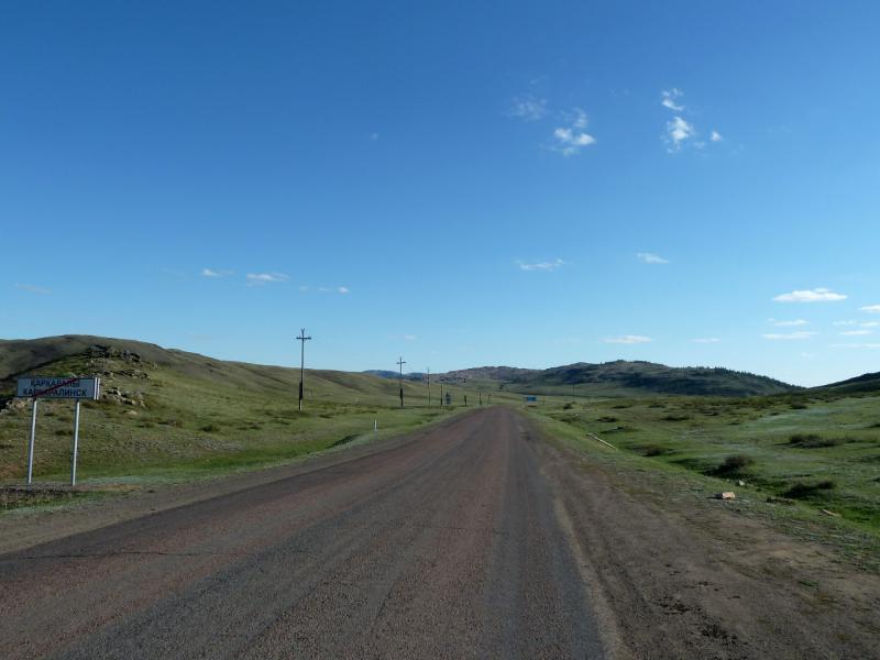 20130501. На юго-западном выезде из города Каркаралинск.