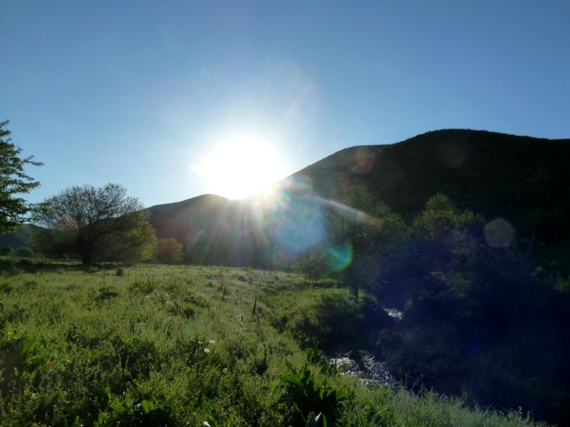 20130515. Утром на стоянке у речки Карасулы.