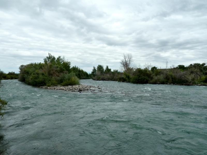 20130520. Поток реки Чилик, в районе села Малыбай.