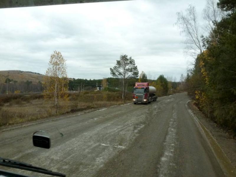 20191008. На выезде из Канска, по направлению к Иркутску.