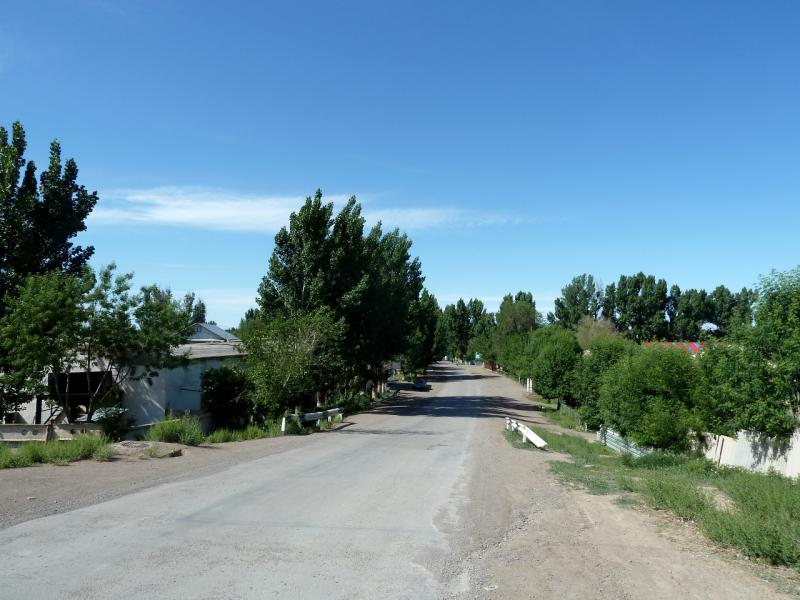 20130523. На въезде в посёлок Чунджа.