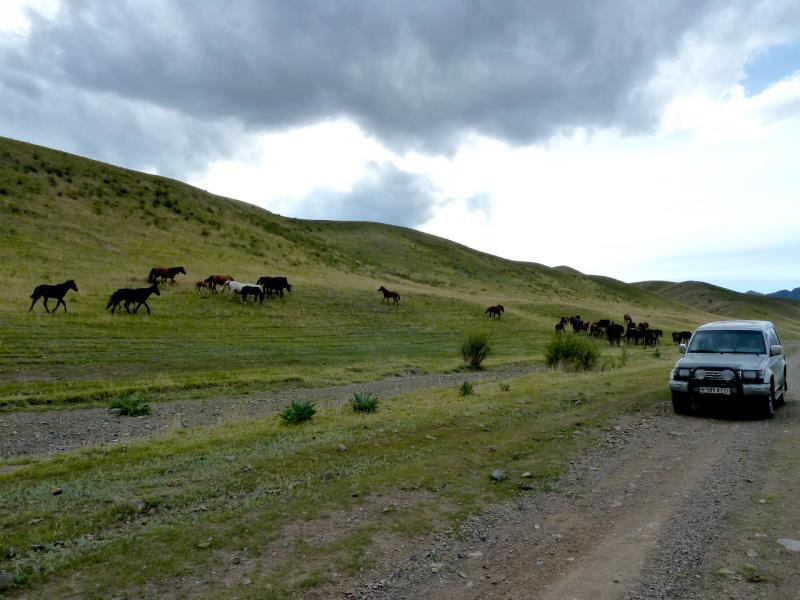 20130525. Оживлённое движение на горных трассах.