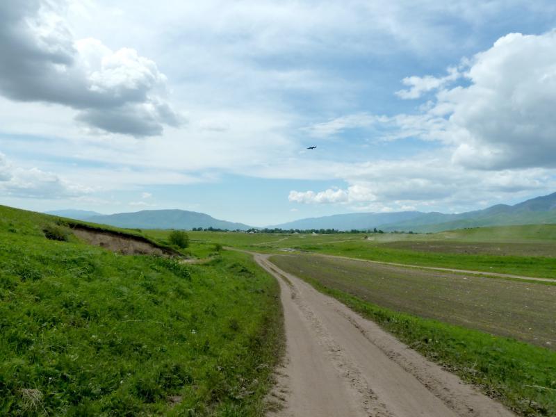 20130527. Полевая дорога к селу Аралтобе.
