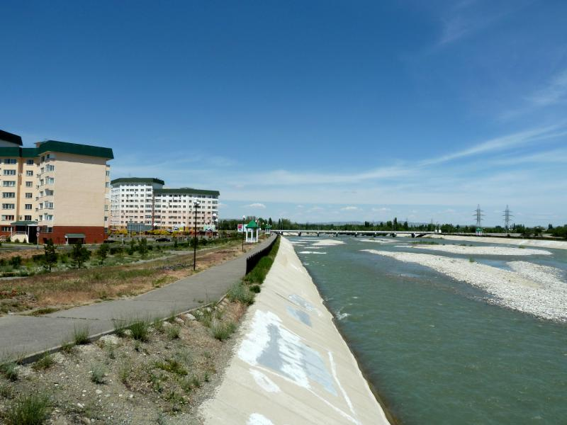 20130529. Набережная реки Каратал в Талдыкоргане.