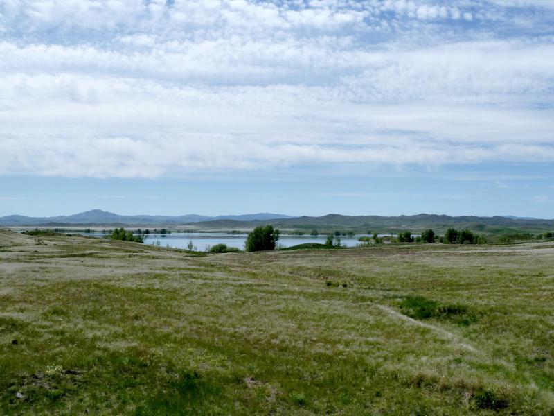 20130531. Вид с дороги на Чарское водохранилище.