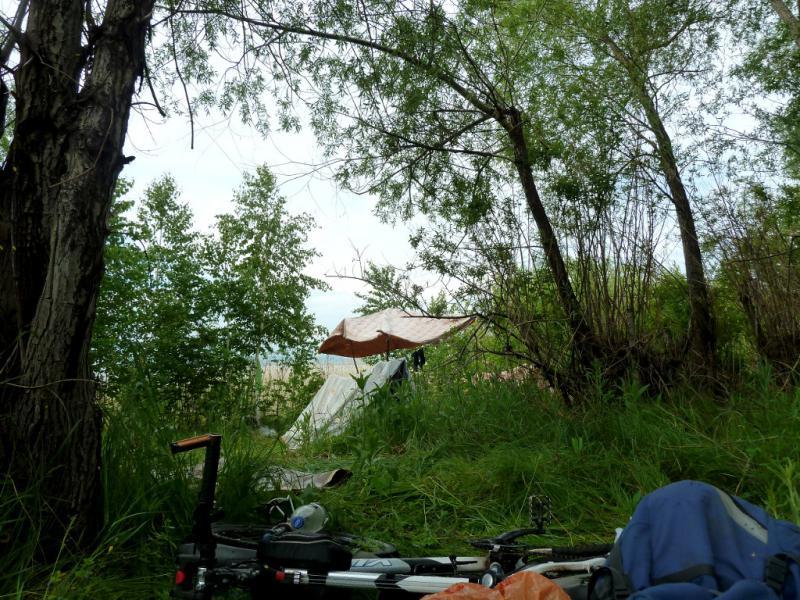 """20130603. Дневной вид из """"двери"""" палатки."""
