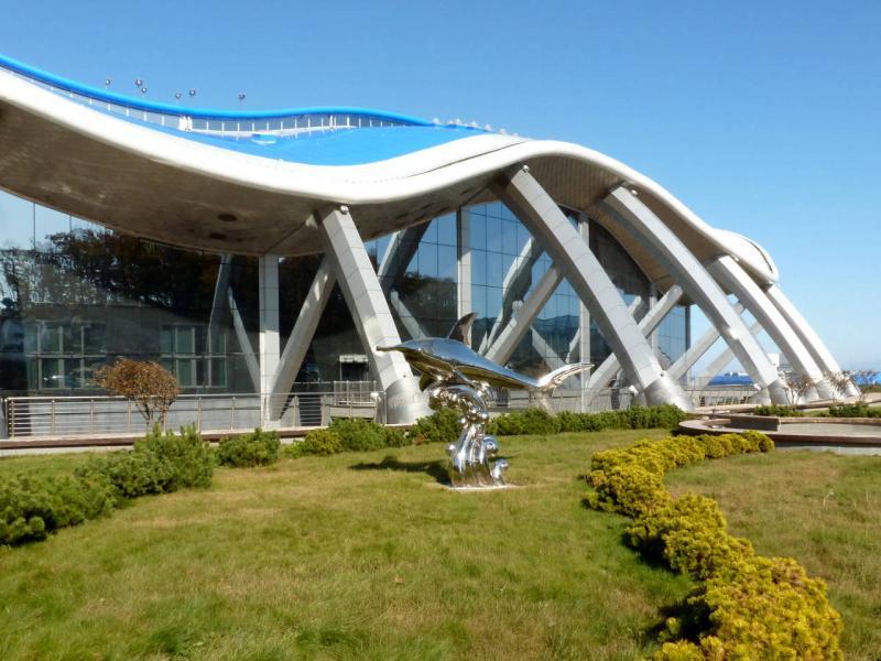20191015. Владивосток. Перед главным зданием океонариума.