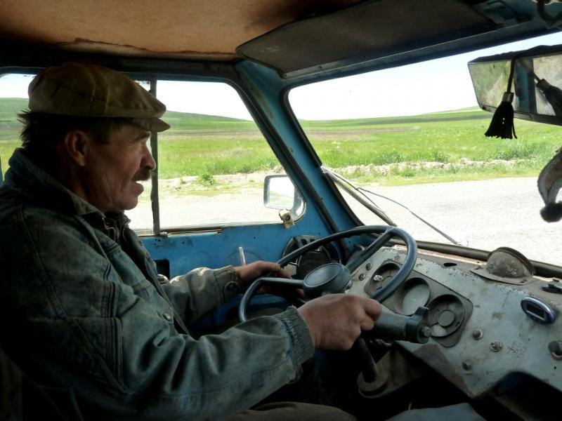 20130605. Алексеич, подбросивший меня с велосипедом до Зыряновска.
