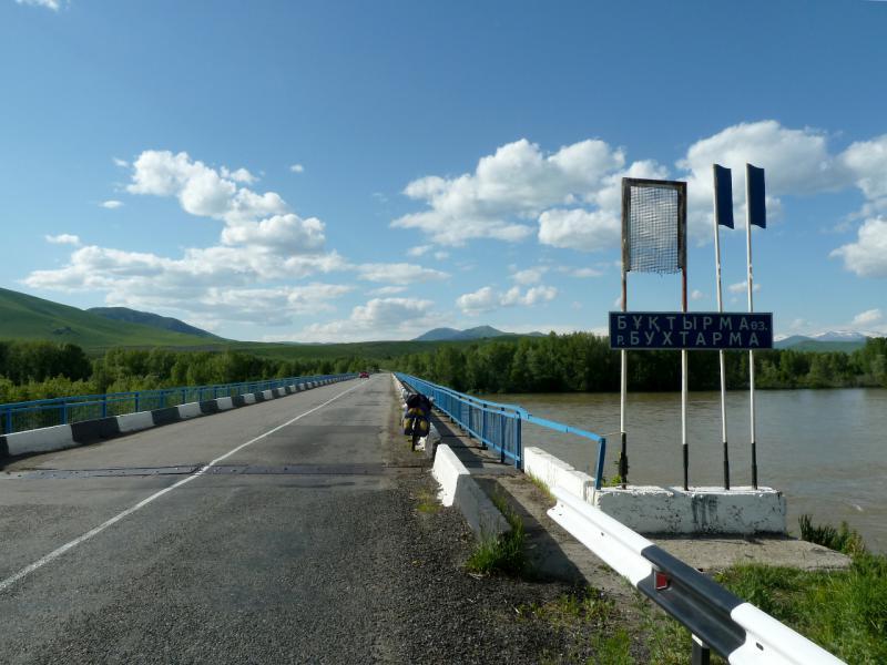 20130605. Мост через реку Бухтарма.