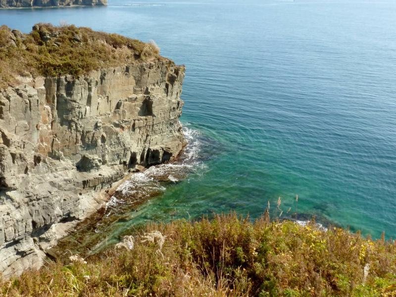 20191017. Владивосток. Расщелина в скалах бухты Карпинского.