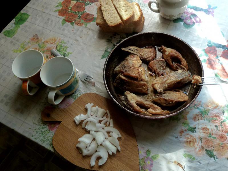 20130607. Наш завтрак на пасеке.