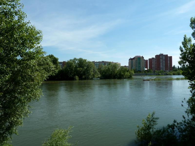 20130608. Вид на место слияния рек Иртыш и Ульба.