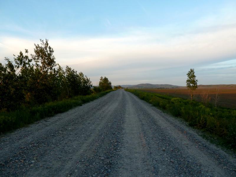 20130608. Дорога P-154, между селом Таврическое и паромной переправой.