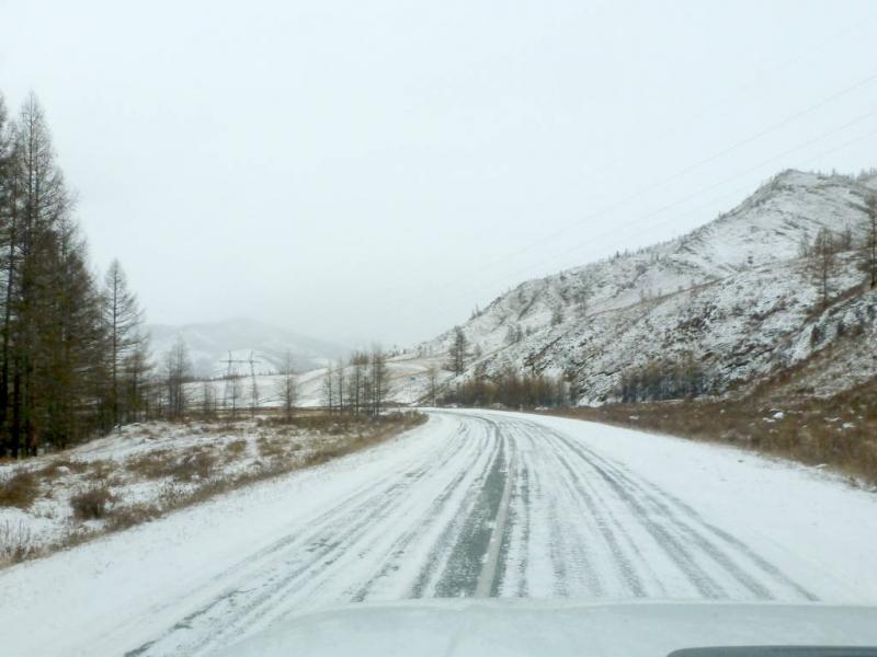 20191115. Плавный подъём Алашским Нагорьем, так примерно пятьдесят километров до Саянского перевала.