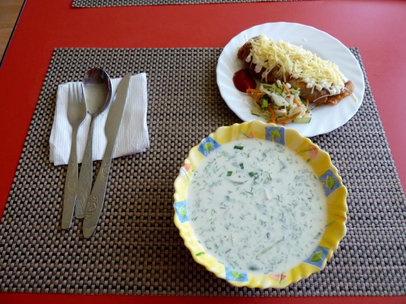 """20130611. Мой вкуснейший обед в кафе """"У Витька"""", под Семипалатинском."""