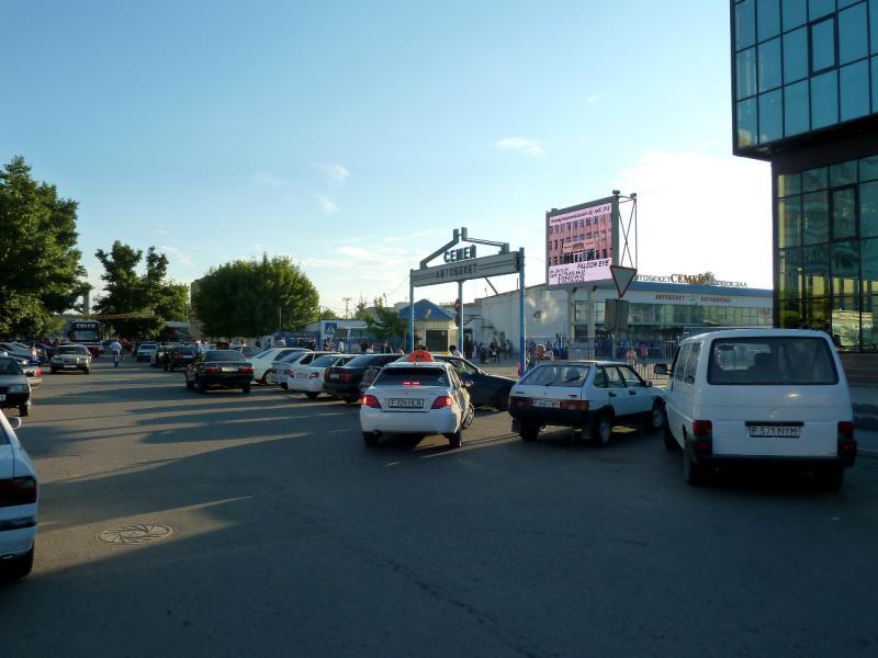 20130611. Перед автобусным вокзалом Семипалатинска.
