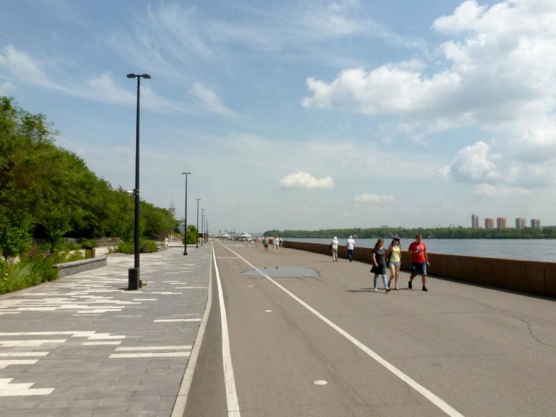 20200628. Красноярск. Участок набережной, ранее бывший частью пассажирского речного порта.