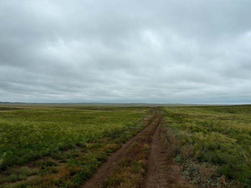 20130910. Грунтовая дорога неподалеку от мавзолея Машхуржусуп-Копейулы.