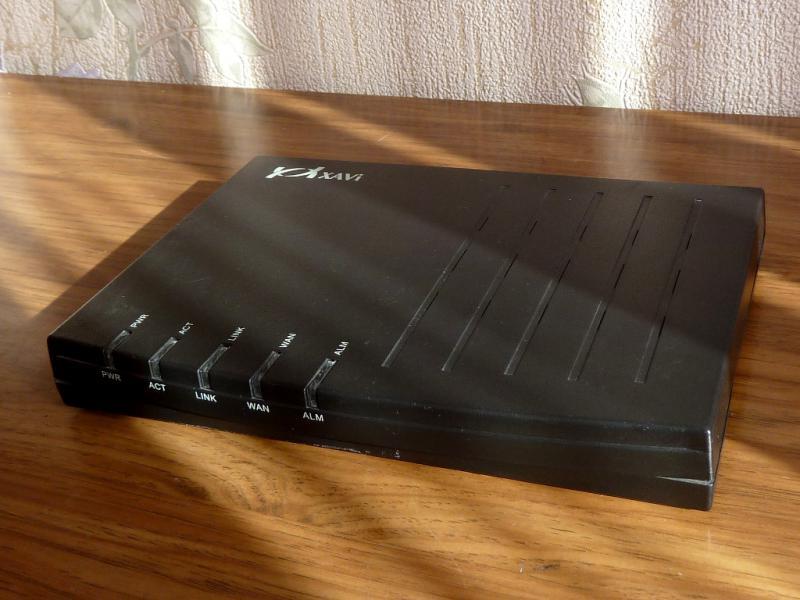 "SHDSL-модем ""XAVi X3102r"": вид спереди, со стороны панели индикации."