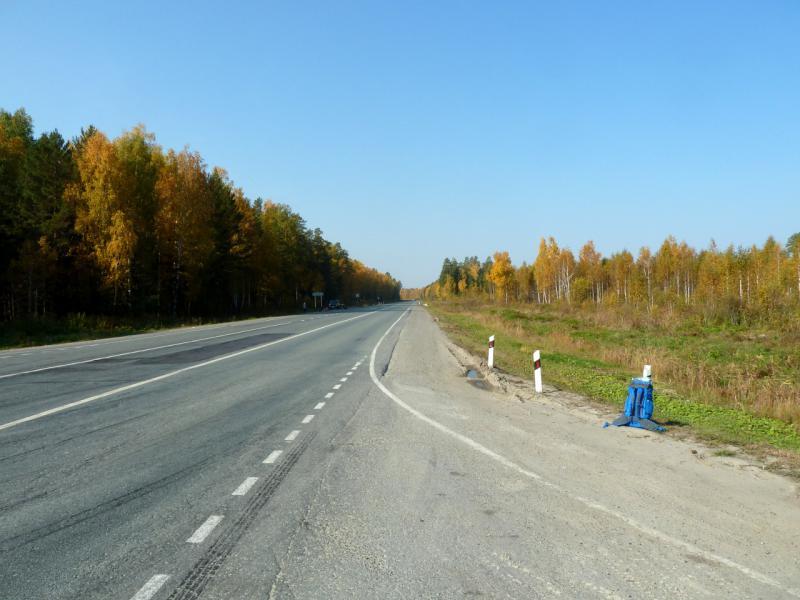 """20140925. Автомобильная дорога P-351 """"Тюмень - Екатеринбург"""" в районе села Юшала."""