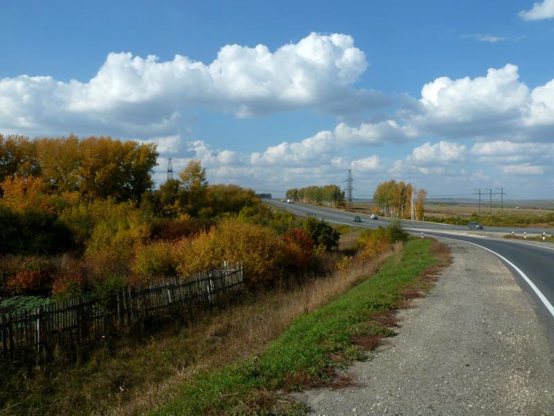 20140927. Вид на развязку дорог M-5 и P-158 под Пензой.