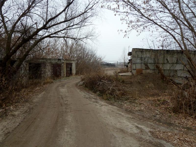 20141104. Тамбов. Дорога гаражами к месту паромной переправы через реку Цна.