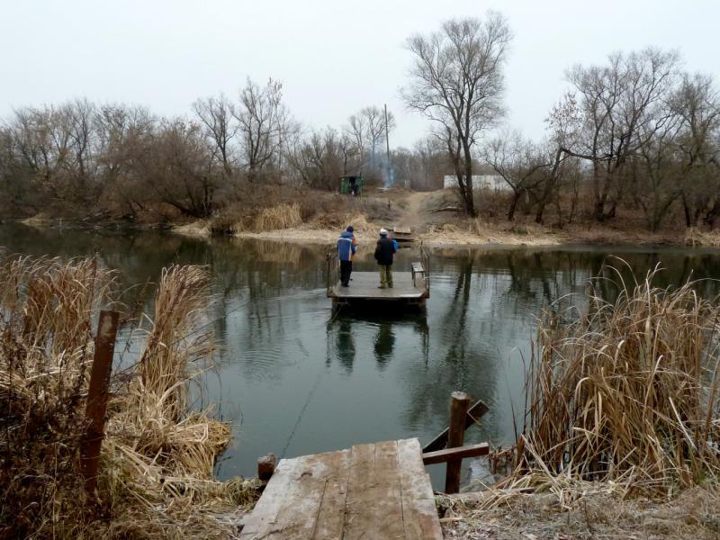 20141104. Тамбов. Паромная переправа через реку Цна.