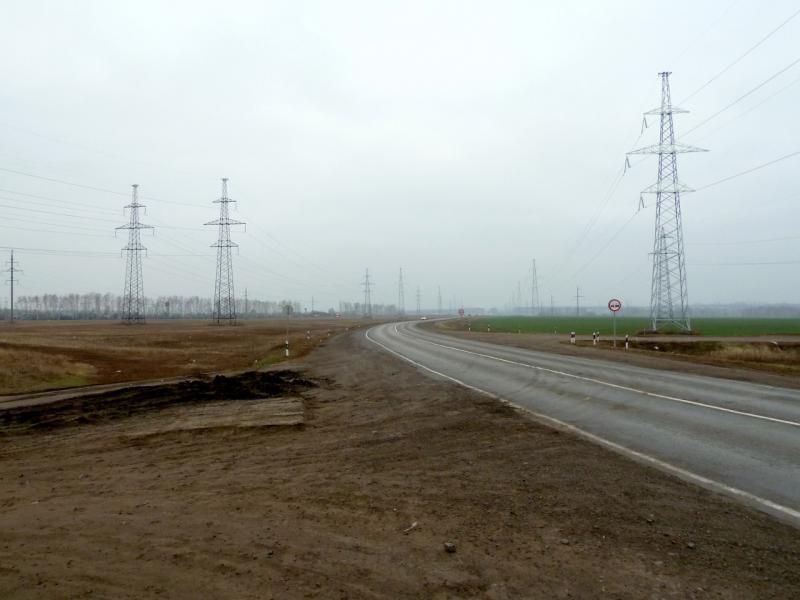 20141105. Тамбов. Участок кольцевой объездной автодороги города в северной части.