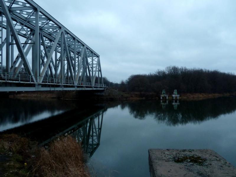 20141111. Тамбов. Железнодорожный мост через реку Цна, в районе села Перикса.