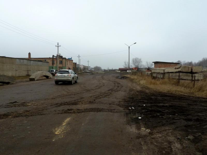 20141112. Тамбов. Проулок от Бастионной улицы в сторону посёлка Пушкари.