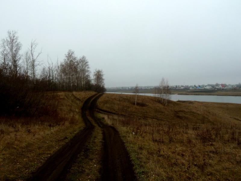 20141112. Тамбов. Грунтовая дорога вдоль речки Большая Липовица.