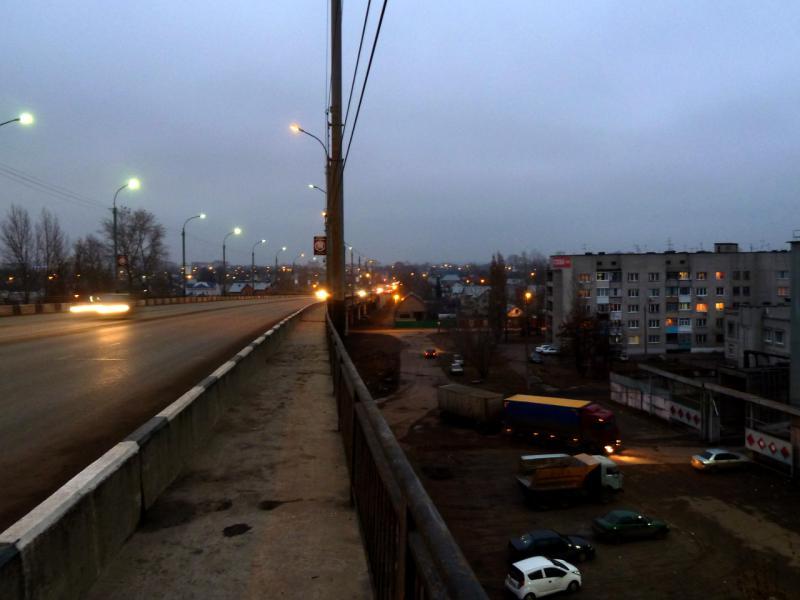 20141112. Тамбов. Вид на город с Лермонтовского моста.