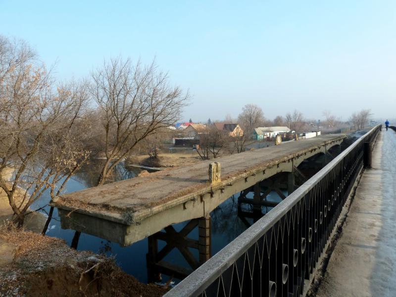 20141122. Тамбов в ноябре. Старый мост через реку Цна, на рассказовском шоссе.