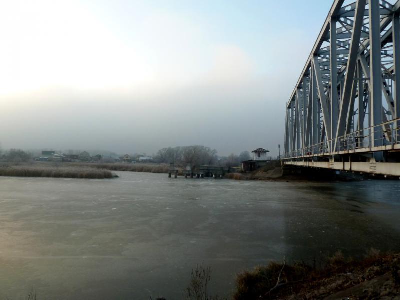 20141122. Тамбов в ноябре. На реке Цна, напротив посёлка Перикса.