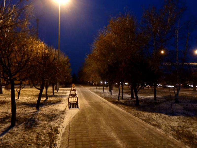 20141202. Тамбов. Утром в парке на пересечении улиц Гастелло и 40-лет Октября.