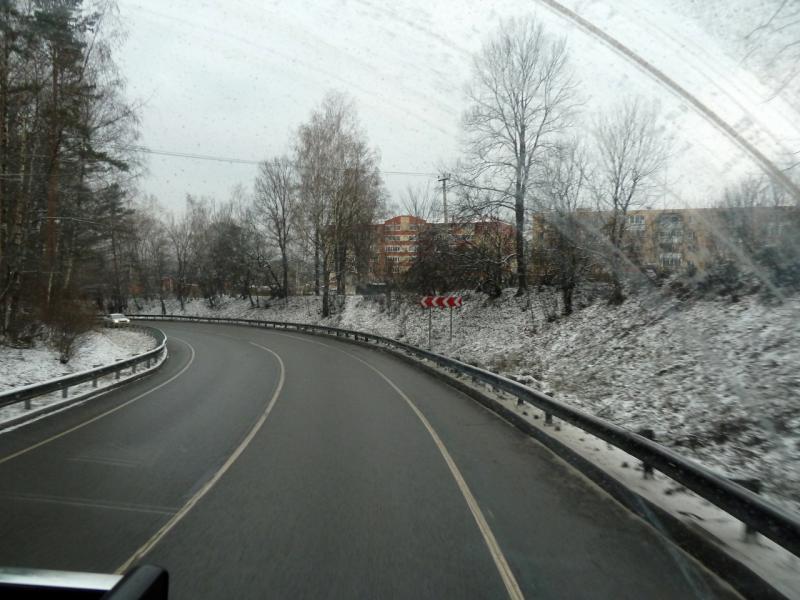 20141202. Тамбов - Питер. На объездном шоссе A-108, в районе города Обнинск.