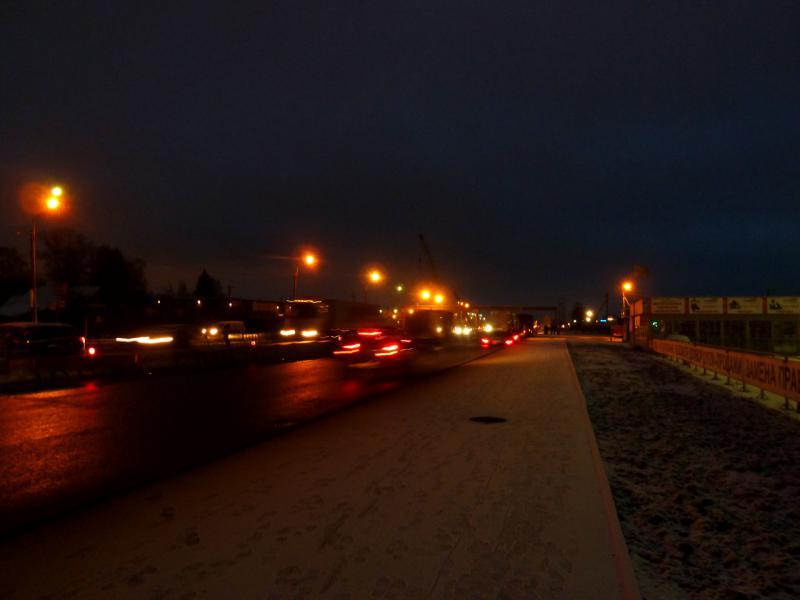"""20141206. Питер - Тамбов. На трассе M-10 """"Московское шоссе"""" неподалеку от посёлка Шушары."""