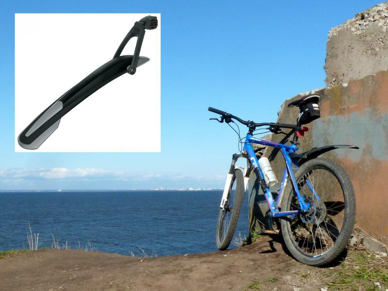 """Велосипедное заднее крыло """"SKS X-Blade II"""" (для """"горных"""", с размером колёс от 26-и до 27-и дюймов)."""