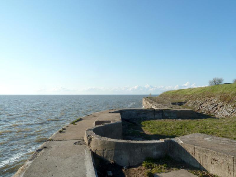 """20150503. Кронштадтское. Южная оконечность форта """"Риф"""" на острове Котлин."""
