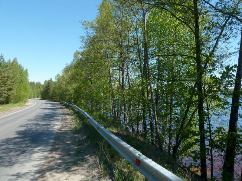 20150524. На шоссе у озера Горновалдайское.