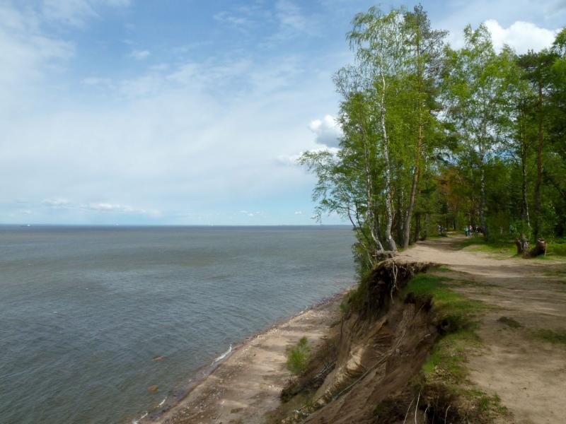 "20150524. Вид на Балтийский залив с побережья у форта ""Красная Горка""."