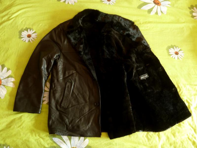Зимняя меховая кожанная куртка (52 размер).