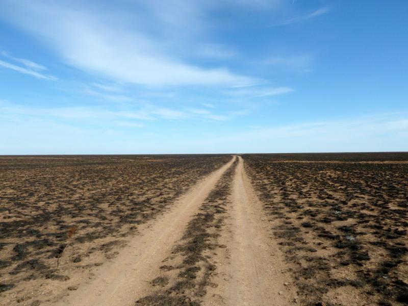 20150916. Путь сквозь выжженную на тысячи квадратных километров степь.