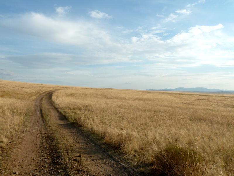 20150917. Дорога холмами в предгорьях Баянаульского массива.