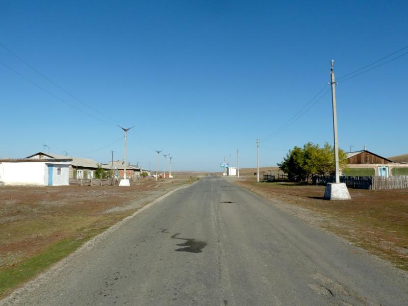 20150918. Въезд в посёлок Торайгыр.