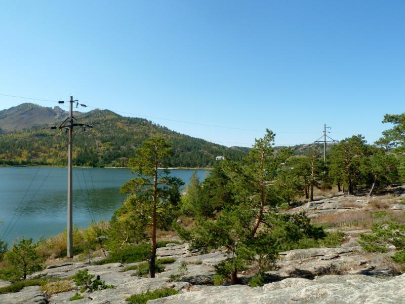20150918. Вид на озеро Жасыбай.