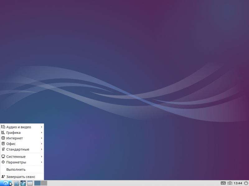 """Установка """"Lubuntu 14.04"""": рабочий стол свежеиспечённой Lubuntu."""
