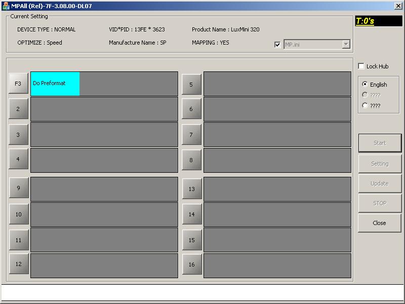 Phison MPALL v3.08: Процесс перепрошивки.