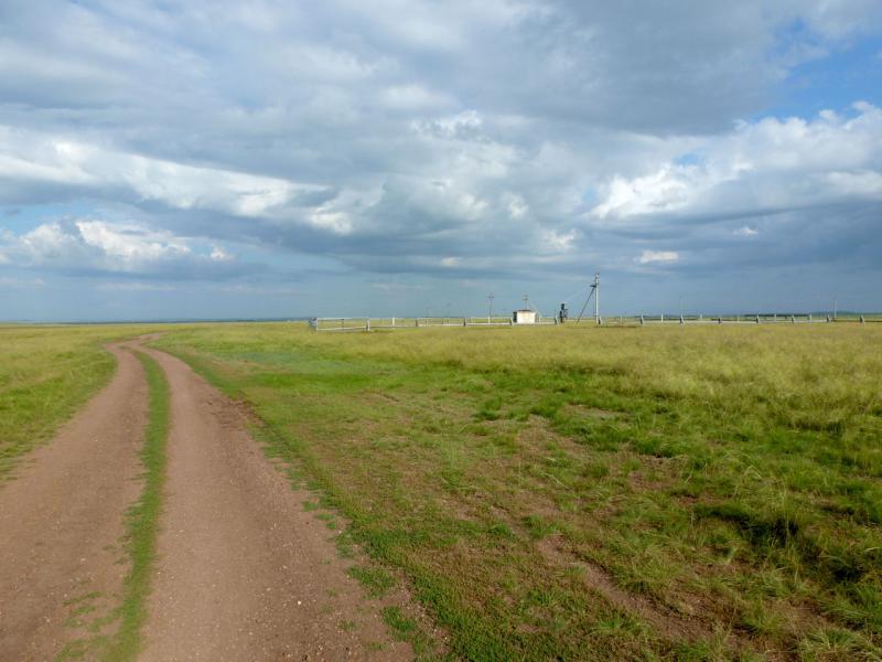 20160806. На степной дороге неподалеку от села Бозтал.