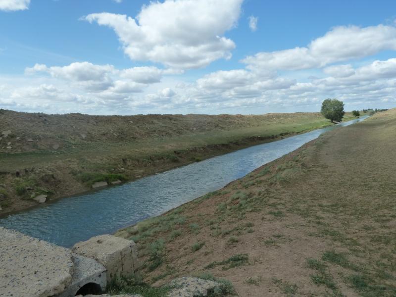 20110806. Павлодар-Астана. Оросительный канал под Парамоновкой.